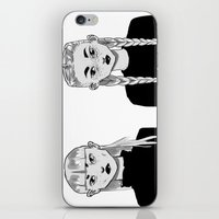 sister iPhone & iPod Skins featuring sister by pharm