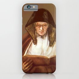 Rembrandt - An Old Woman Reading (formerly Prophetess Hannah) iPhone Case