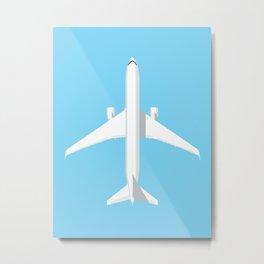 767 Passenger Jet Aircraft - Sky Metal Print