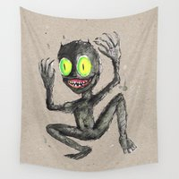 devil Wall Tapestries featuring Little devil by Bwiselizzy