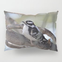 Downy Woodpecker Pillow Sham