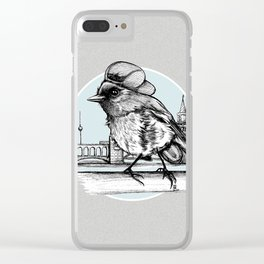 Berlin Sparrow Clear iPhone Case