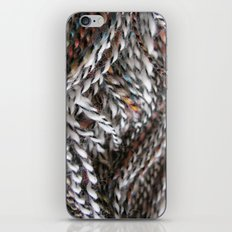 black and white colorful wool hand spun yarn iPhone & iPod Skin