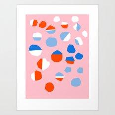 Scoshe - throwback memphis style retro 80s neon art print cool hipster trendy modern abstract  Art Print