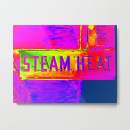 Steam Heat Metal Print