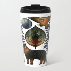 The Bear and the Barn Owl Metal Travel Mug