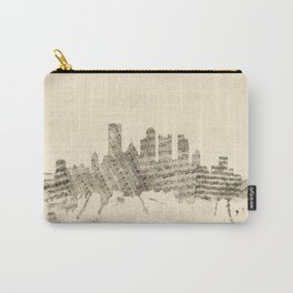 Pittsburgh Pennsylvania Skyline Sheet Music Cityscape Carry-All Pouch