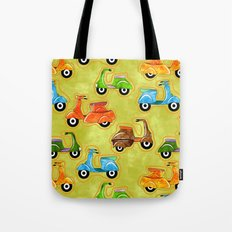 Mod Scooters Tote Bag