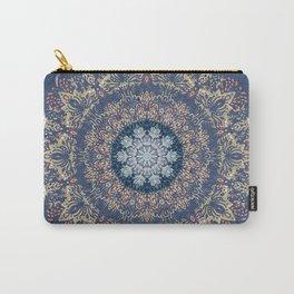 Blue's Golden Mandala Carry-All Pouch