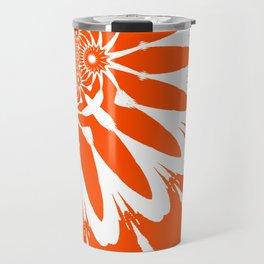 The Modern Flower Orange Travel Mug