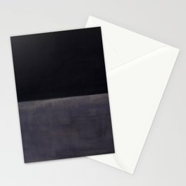 Untitled (Black on Grey) by Mark Rothko HD Stationery Cards