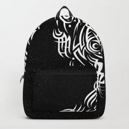 Alien Tribal Tattoo - white Backpack