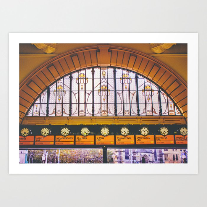 Flinders Street Stained Glass Fine Art Print Art Print