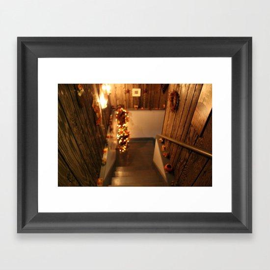 Blurred Theme Framed Art Print
