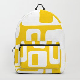 Retro Mid Century Modern Abstract Pattern 335 Yellow Backpack