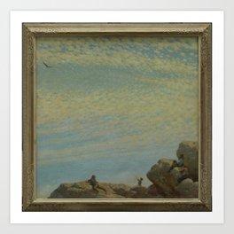 Charles Courtney Curran - The Hawk Art Print