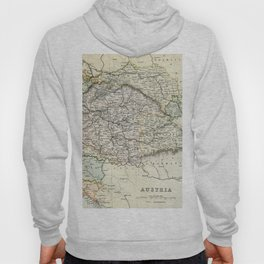 Vintage Map of Austria Hoody