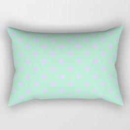 Pale Lavender Violet on Magic Mint Green Stars Rectangular Pillow