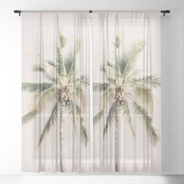 Tropical Palm Tree Sheer Curtain