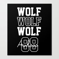 exo Canvas Prints featuring EXO  Wolf by Sara Eshak