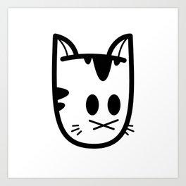 Big Ol' Cat Logo: Classique! Art Print
