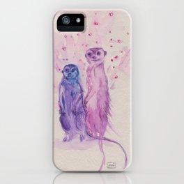 Ink Animals of Africa - Meerkat Mates iPhone Case