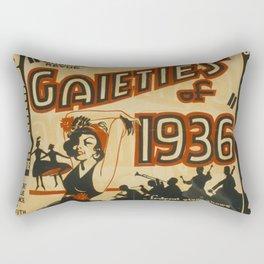 Gaieties of 1936 vintage poster Rectangular Pillow