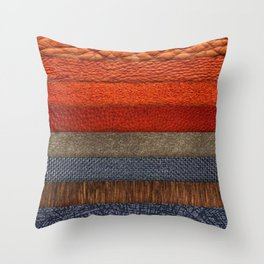 Cool colth texture design Throw Pillow