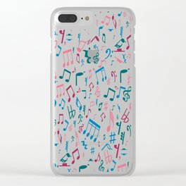 Ruby Music Notes Clear iPhone Case