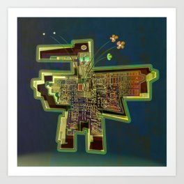 Good Vibes from the Robotic City Lab Art Print