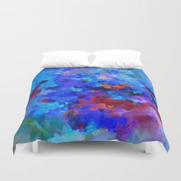 Abstract Seascape Painting Duvet Cover