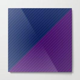 Raillure fond bleu violet Metal Print
