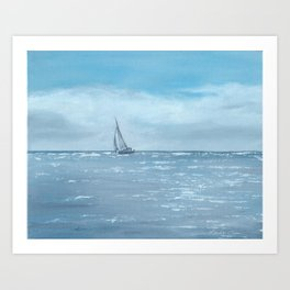 Newport Beach Sailing Art Print