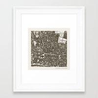 london map Framed Art Prints featuring London Map by Zeke Tucker