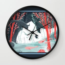 Underwater Menagerie Wall Clock