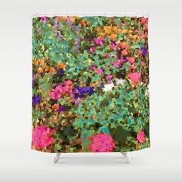 Crystal Flowers Shower Curtain