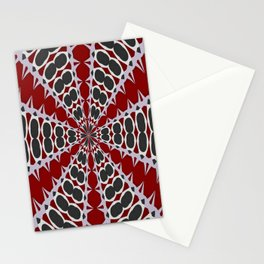 Red Black White Pattern Stationery Cards