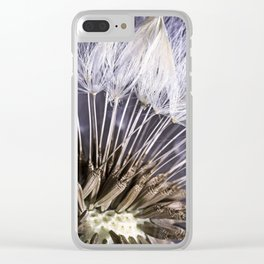 Extreme Macro Image of a Dandelion Seed Head Clear iPhone Case