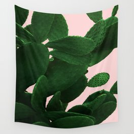 Cactus On Pink Wall Tapestry