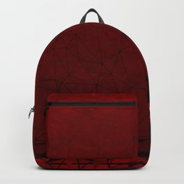 Deep Ruby Red Ombre with Geometrical Patterns Backpack