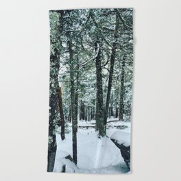 Spring Snow Beach Towel