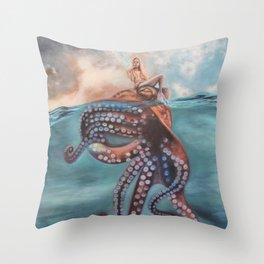 Illusory Island Throw Pillow