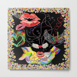 Throwing Kisses and I Love Yous Metal Print