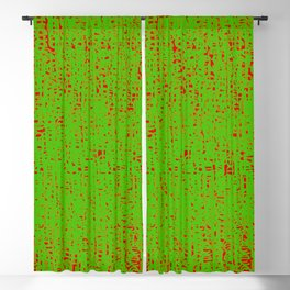 lies 2, green on red Blackout Curtain