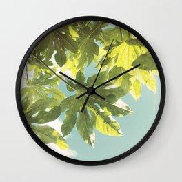 Fig Leaves Wall Clock