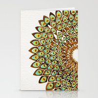 70s Stationery Cards featuring Peacock Mandala – 70s Palette by Cat Coquillette