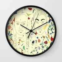 japan Wall Clocks featuring Japan by March Hunger