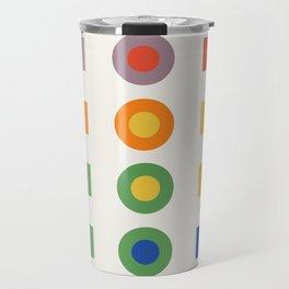 Chevreul Laws of Contrast of Colour, Plate VI, 1860, Remake Travel Mug