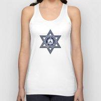 israel Tank Tops featuring Israel Peace Symbol - 032 by Lazy Bones Studios
