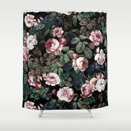 NIGHT FOREST XX Shower Curtain